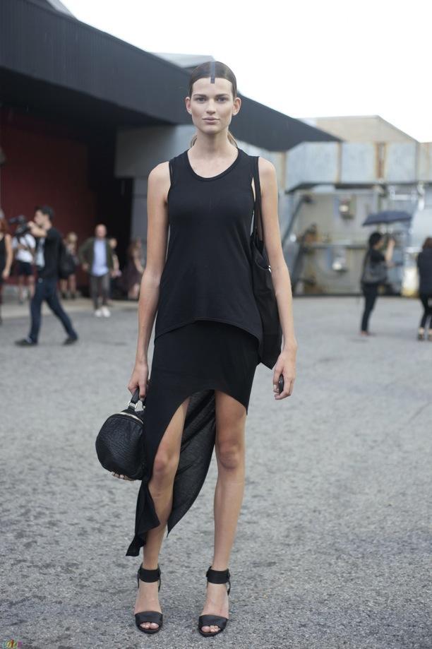 Street Style: Asymmetrical Maxi Skirts