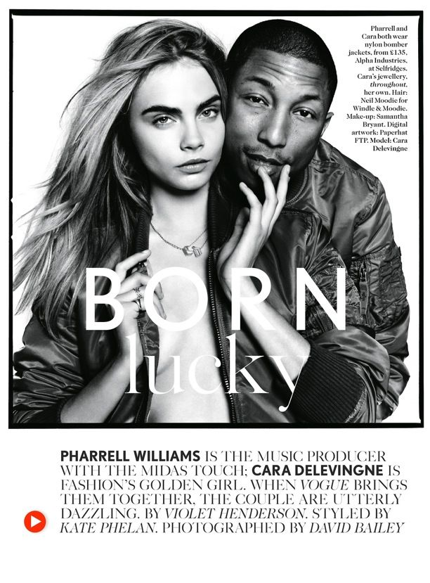 Get Lucky | Cara Delevingne + Pharrell Williams | Vogue UK
