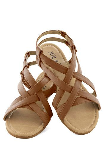 Modcloth  Saunter in the Sand Sandals