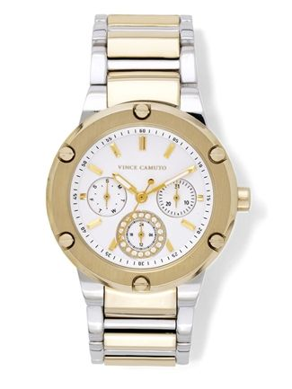 Vince Camuto  Dual Finish Chronograph Watch