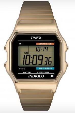 Timex  Classic Digital Dress Stainless Steel Bracelet Watch