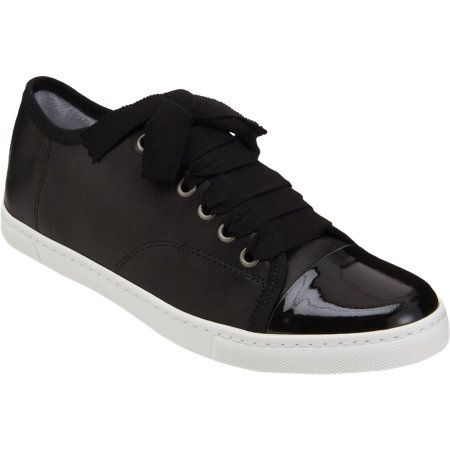 Lanvin  Patent Cap Toe Low Top