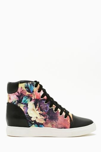 Nasty Gal  Blazing Bloom Sneaker