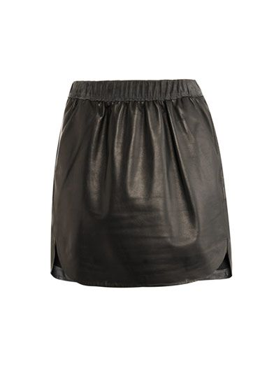 Balenciaga  Leather Mini Skirt