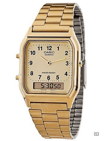 Casio Men's Dual Time Metal Watch