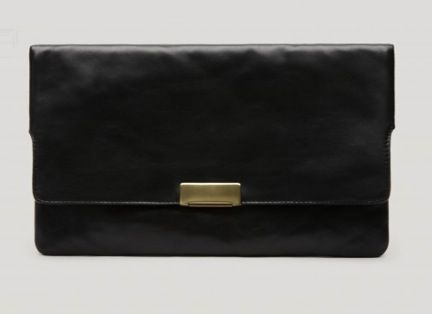 Gerard Darel  Derby Leather Clutch