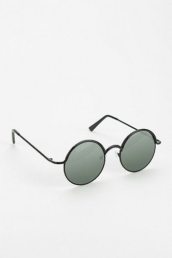 UO  Follow The Lines Round Sunglasses