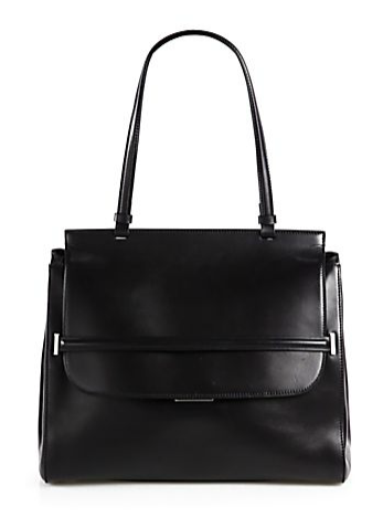 The Row  Leather Top Handle Bag