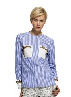 Suno  Suno Embroidered Button Down