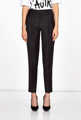 Each x Other Each x Other Daniele Inamorato Black Pin Stripe Trousers
