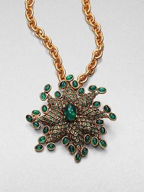 Oscar de la Renta Oscar de la Renta Starburst Convertible Pendant Necklace & Brooch