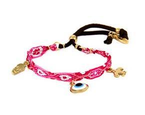 Ettika  Ettika Triple-Charm Pink Friendship Bracelet