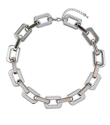Topshop Rectangle Chain Link Necklace
