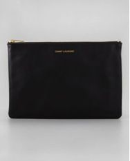 Saint Laurent  Letters Medium Zip Clutch Bag