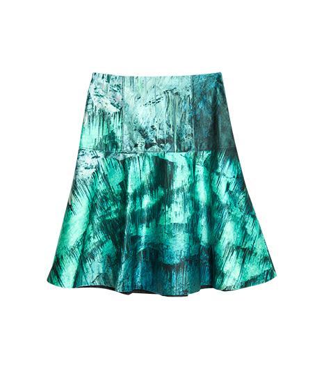 Proenza Schouler  Cave Print Satin Tulip Skirt