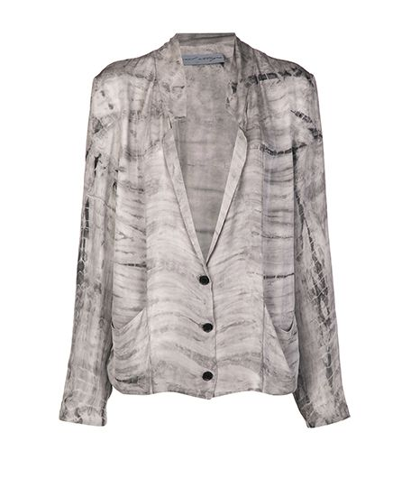 Raquel Allegra  All Over Shibori Dye Effect Jacket