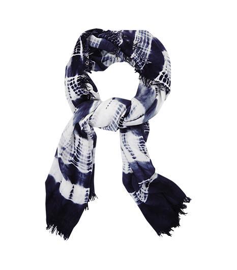 BCBG  Stripe Tie-Dye Scarf