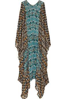 Issa  Printed Silk-Chiffon Kaftan