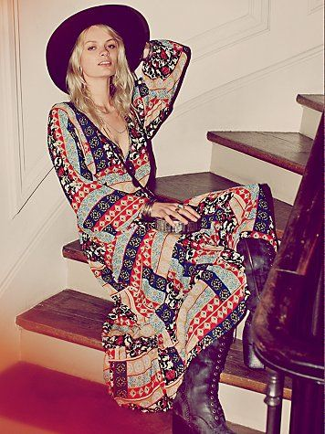 Free People  Kanako Print Maxi Dress