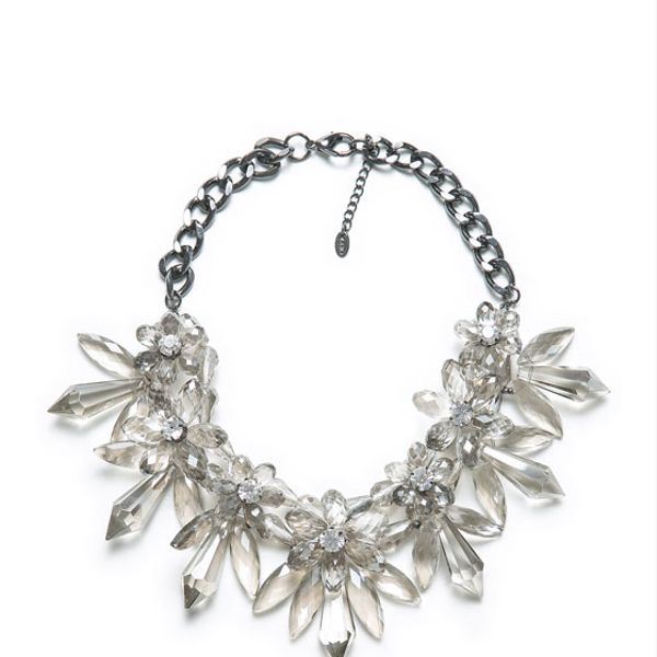 Zara  Stones and Flower Necklace