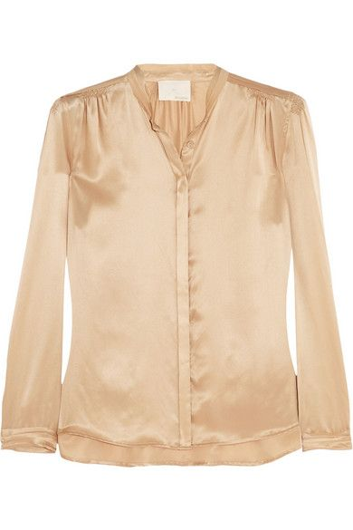 Band of Outsiders  Washed Silk-Satin Blouse