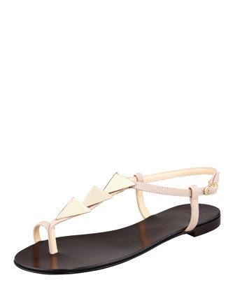 Giuseppe Zanotti  Triangle-Stud Flat Thong Sandals