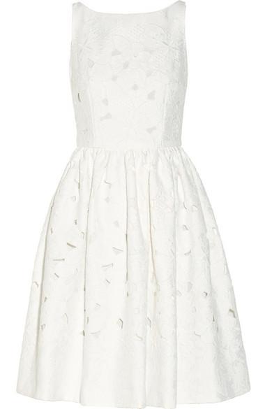 Dolce & Gabbana  Cutout Floral-Brocade Dress