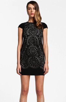 Cynthia Steffe  Laser Cut Shift Dress