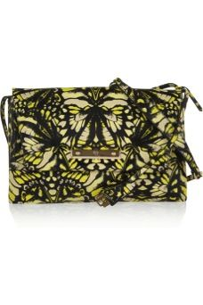 McQ Alexander McQueen  Printed Leather Shoulder Bag