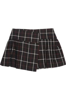 Etoile Isabel Marant  Plaid Cotton and Wool-Blend Mini Skirt