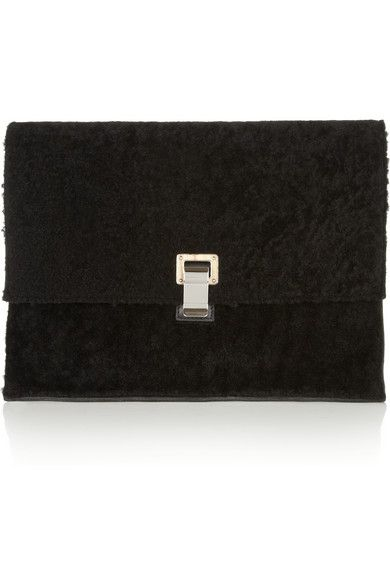 Proenza Schouler  Proenza Schouler Lunch Bag Large Shearling Clutch