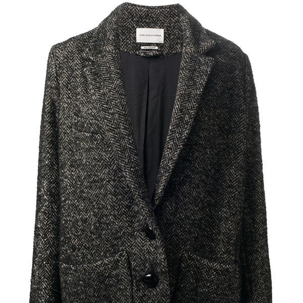 Isabel Marant  Etoile Dulci Herringbone Coat
