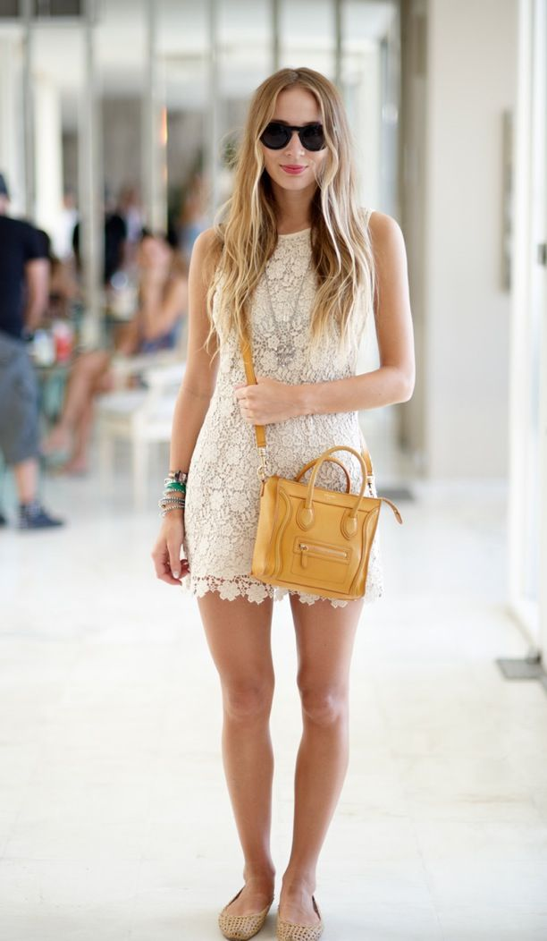 Street Style: Crochet Mini Dress