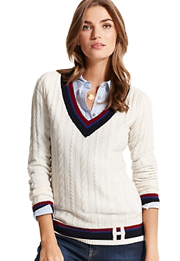 Tommy Hilfiger  Deep V-Neck Sweater