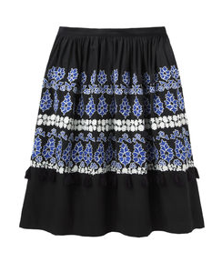 Suno  Embroidered Skirt