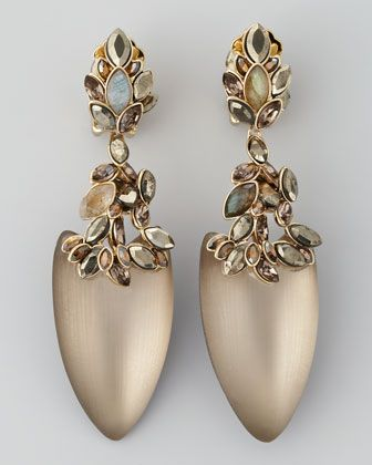 Alexis Bittar  Neo Boho Faceted Marquis Dangle Clip Earrings