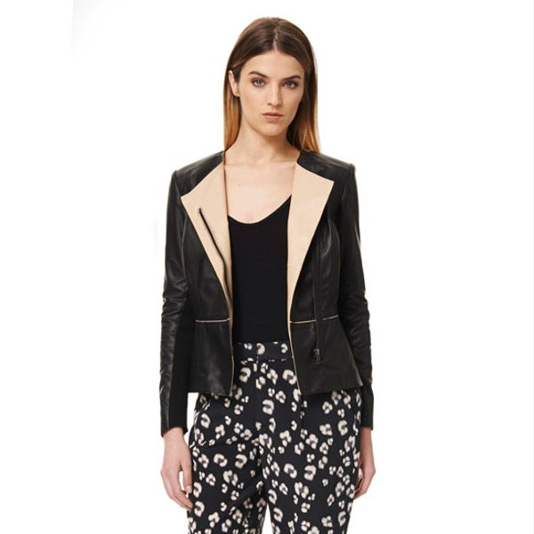 Rebecca Taylor  Leather Blazer
