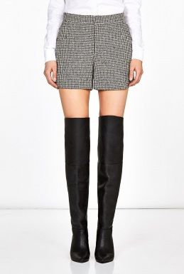 Theyskens' Theory  Footh Pastil Houndstooth Shorts