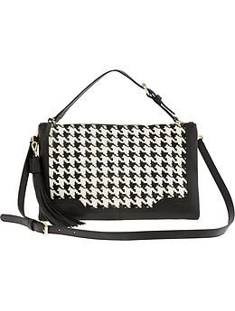 Banana Republic  Evan Convertible Houndstooth Crossbody