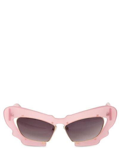 Linda Farrow x Prabal Gurung  Large Frame Sunglasses