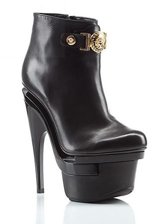 Versace  Signature Platform Booties