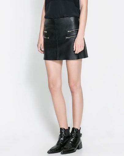 Zara  Mini Skirt with Zips