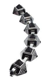 Eddie Borgo Eddie Borgo Gemstone Caged Pyramid Bracelet