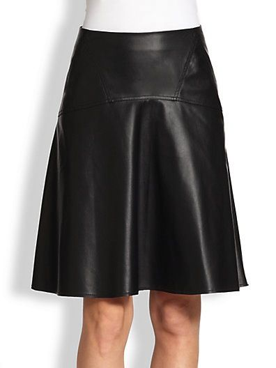BCBGMaxazria Camber Faux Leather Midi Skirt