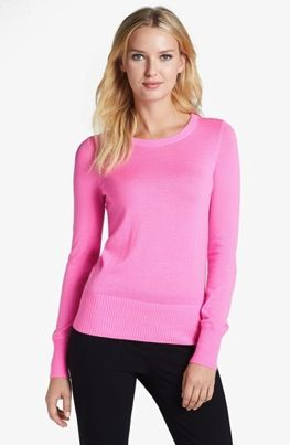 Pink Tartan  Elbow Patch Cashmere Sweater