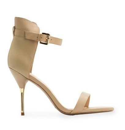 Mango Touch  Metallic Heel Sandals