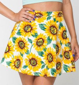 American Apparel  Sunflower Circle Skirt