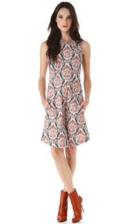 Carven Carven Print Sleeveless Dress