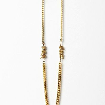 Bones and Feathers Collective  Bones and Feathers Collective Snake+Chain Necklace