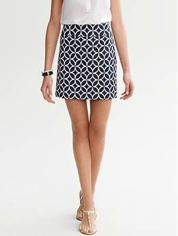 Banana Republic  Printed Ponte Mini Skirt